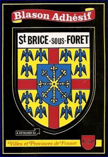 Saint-Brice-sous-Foret France  city photos : Blason adhésif, carte postale KSP.