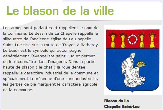 L 39 armorial for Piscine la chapelle st luc
